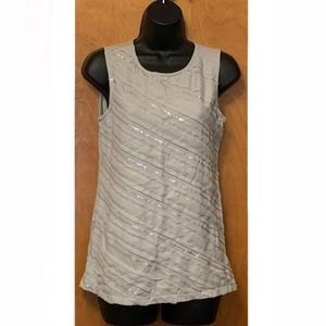 Ann Taylor Front Layered Sequin Tank Sz Small